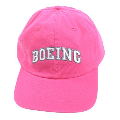 BOEING ガールズキャップ ピンク