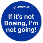 BOEING  I'm not going! ステッカー